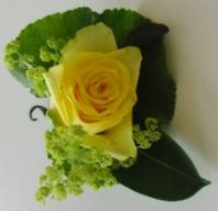 Single Yellow Roses Buttonhole
